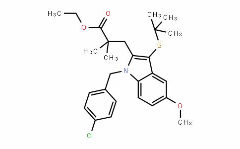 1H-InDole-2-propanoic acid, 1-[(4-chlorophenyl)methyl]-3-[(1,1-Dimethylethyl)thio]-5-methoxy-α,α-Dimethyl-, ethyl ester