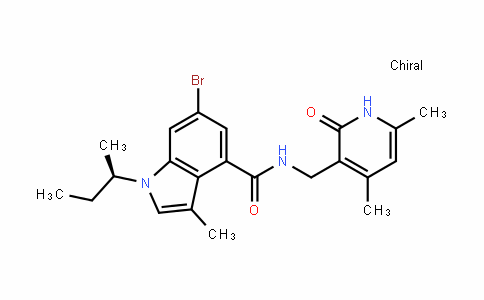 1H-InDole-4-carboxamiDe, 6-bromo-N-[(1,2-DihyDro-4,6-Dimethyl-2-oxo-3-pyriDinyl)methyl]-3-methyl-1-[(1R)-1-methylpropyl]-