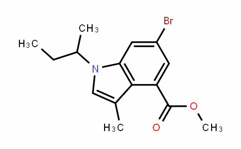 1H-InDole-4-carboxylic acid, 6-bromo-3-methyl-1-(1-methylpropyl)-, methyl ester