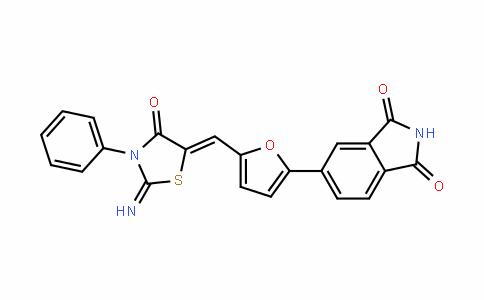1H-IsoinDole-1,3(2H)-Dione, 5-[5-[(2-imino-4-oxo-3-phenyl-5-thiazoliDinyliDene)methyl]-2-furanyl]-