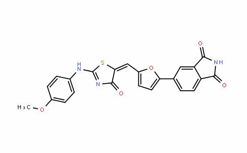 1H-IsoinDole-1,3(2H)-Dione, 5-[5-[[2-[(4-methoxyphenyl)amino]-4-oxo-5(4H)-thiazolyliDene]methyl]-2-furanyl]-