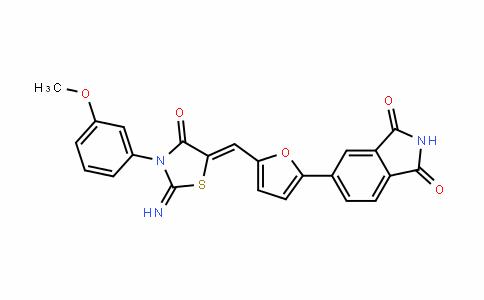 1H-IsoinDole-1,3(2H)-Dione, 5-[5-[[2-imino-3-(3-methoxyphenyl)-4-oxo-5-thiazoliDinyliDene]methyl]-2-furanyl]-