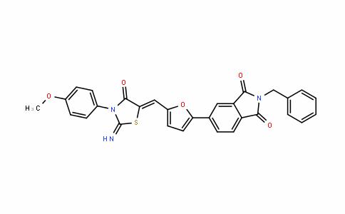 1H-IsoinDole-1,3(2H)-Dione, 5-[5-[[2-imino-3-(4-methoxyphenyl)-4-oxo-5-thiazoliDinyliDene]methyl]-2-furanyl]-2-(phenylmethyl)-