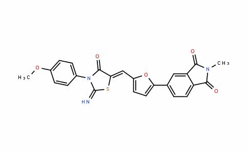 1H-IsoinDole-1,3(2H)-Dione, 5-[5-[[2-imino-3-(4-methoxyphenyl)-4-oxo-5-thiazoliDinyliDene]methyl]-2-furanyl]-2-methyl-
