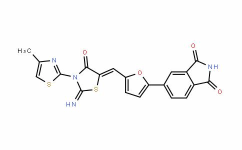 1H-IsoinDole-1,3(2H)-Dione, 5-[5-[[2-imino-3-(4-methyl-2-thiazolyl)-4-oxo-5-thiazoliDinyliDene]methyl]-2-furanyl]-