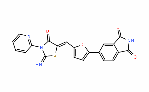 1H-IsoinDole-1,3(2H)-Dione, 5-[5-[[2-imino-4-oxo-3-(2-pyriDinyl)-5-thiazoliDinyliDene]methyl]-2-furanyl]-