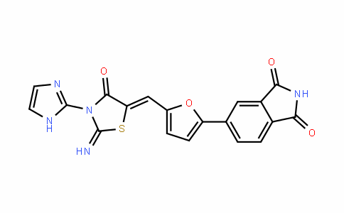 1H-IsoinDole-1,3(2H)-Dione, 5-[5-[[3-(1H-imiDazol-2-yl)-2-imino-4-oxo-5-thiazoliDinyliDene]methyl]-2-furanyl]-