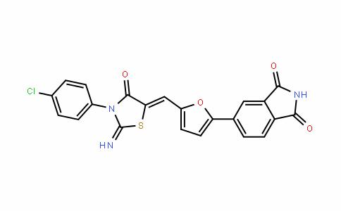 1H-IsoinDole-1,3(2H)-Dione, 5-[5-[[3-(4-chlorophenyl)-2-imino-4-oxo-5-thiazoliDinyliDene]methyl]-2-furanyl]-
