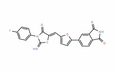1H-IsoinDole-1,3(2H)-Dione, 5-[5-[[3-(4-fluorophenyl)-2-imino-4-oxo-5-thiazoliDinyliDene]methyl]-2-furanyl]-