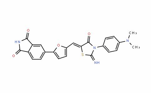 1H-IsoinDole-1,3(2H)-Dione, 5-[5-[[3-[4-(Dimethylamino)phenyl]-2-imino-4-oxo-5-thiazoliDinyliDene]methyl]-2-furanyl]-