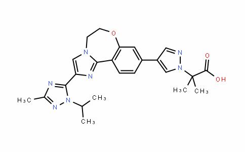 1H-Pyrazole-1-acetic acid, 4-[5,6-DihyDro-2-[3-methyl-1-(1-methylethyl)-1H-1,2,4-triazol-5-yl]imiDazo[1,2-D][1,4]benzoxazepin-9-yl]-α,α-Dimethyl-