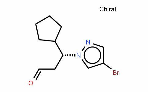 1H-Pyrazole-1-propanal, 4-bromo-b-cyclopentyl-, (bR)-