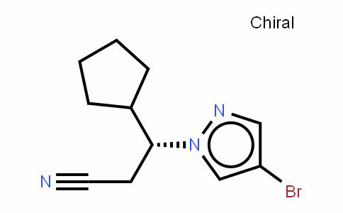 1H-Pyrazole-1-propanenitrile, 4-bromo-b-cyclopentyl-, (bR)-