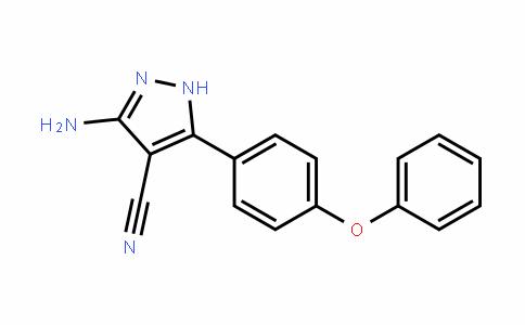 1H-Pyrazole-4-carbonitrile, 3-amino-5-(4-phenoxyphenyl)-