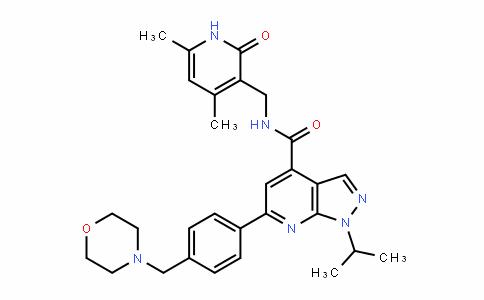1H-Pyrazolo[3,4-b]pyriDine-4-carboxamiDe, N-[(1,2-DihyDro-4,6-Dimethyl-2-oxo-3-pyriDinyl)methyl]-1-(1-methylethyl)-6-[4-(4-morpholinylmethyl)phenyl]-