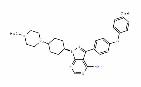 1H-Pyrazolo[3,4-D]pyrimiDin-4-amine, 1-[trans-4-(4-methyl-1-piperazinyl)cyclohexyl]-3-(4-phenoxyphenyl)-