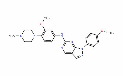 1H-Pyrazolo[3,4-D]pyrimiDin-6-amine, N-[3-methoxy-4-(4-methyl-1-piperazinyl)phenyl]-1-(4-methoxyphenyl)-