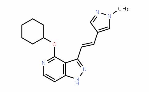 1H-Pyrazolo[4,3-c]pyriDine, 4-(cyclohexyloxy)-3-[(1E)-2-(1-methyl-1H-pyrazol-4-yl)ethenyl]-