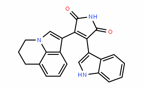 1H-Pyrrole-2,5-Dione, 3-(5,6-DihyDro-4H-pyrrolo[3,2,1-ij]quinolin-1-yl)-4-(1H-inDol-3-yl)-