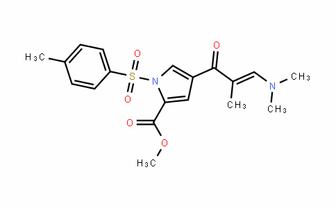 1H-Pyrrole-2-carboxylic acid, 4-[3-(Dimethylamino)-2-methyl-1-oxo-2-propen-1-yl]-1-[(4-methylphenyl)sulfonyl]-, methyl ester