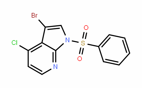 1H-Pyrrolo[2,3-b]pyriDine, 3-bromo-4-chloro-1-(phenylsulfonyl)-
