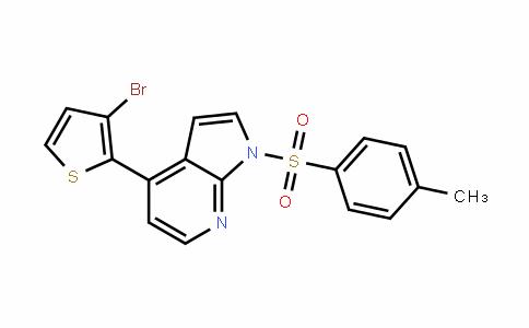 1H-Pyrrolo[2,3-b]pyriDine, 4-(3-bromo-2-thienyl)-1-[(4-methylphenyl)sulfonyl]-