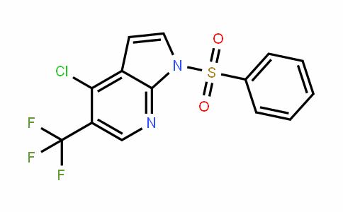 1H-Pyrrolo[2,3-b]pyriDine, 4-chloro-1-(phenylsulfonyl)-5-(trifluoromethyl)-