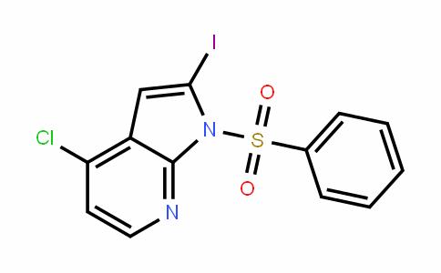 1H-Pyrrolo[2,3-b]pyriDine, 4-chloro-2-ioDo-1-(phenylsulfonyl)-