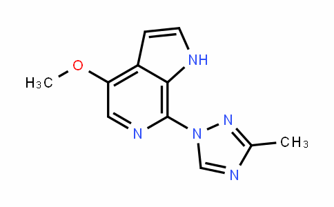 1H-Pyrrolo[2,3-c]pyriDine, 4-methoxy-7-(3-methyl-1H-1,2,4-triazol-1-yl)-