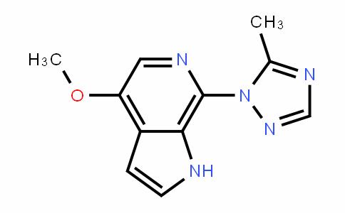 1H-Pyrrolo[2,3-c]pyriDine, 4-methoxy-7-(5-methyl-1H-1,2,4-triazol-1-yl)-