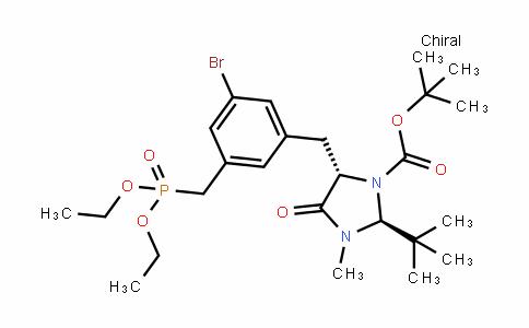 1-ImiDazoliDinecarboxylic acid, 5-[[3-bromo-5-[(Diethoxyphosphinyl)methyl]phenyl]methyl]-2-(1,1-Dimethylethyl)-3-methyl-4-oxo-, 1,1-Dimethylethyl ester, (2S-trans)- (9CI)