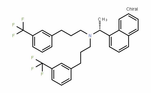 1-Naphthalenemethanamine, α-methyl-N,N-bis[3-[3-(trifluoromethyl)phenyl]propyl]-, (αR)-