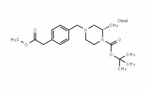 1-Piperazinecarboxylic acid, 4-[[4-(2-methoxy-2-oxoethyl)phenyl]methyl]-2-methyl-, 1,1-Dimethylethyl ester, (2S)-