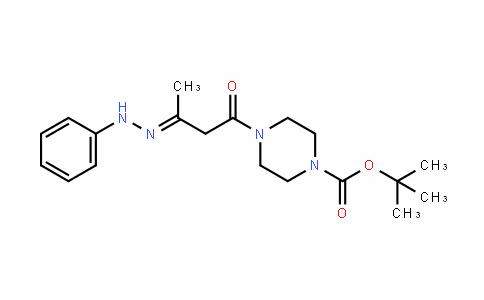 1-Piperazinecarboxylic acid, 4-[1-oxo-3-(2-phenylhyDrazinyliDene)butyl]-, 1,1-Dimethylethyl ester