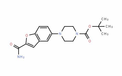 1-Piperazinecarboxylic acid, 4-[2-(aminocarbonyl)-5-benzofuranyl]-, 1,1-Dimethylethyl ester