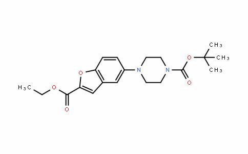 1-Piperazinecarboxylic acid, 4-[2-(ethoxycarbonyl)-5-benzofuranyl]-, 1,1-Dimethylethyl ester