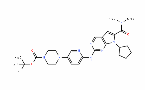1-Piperazinecarboxylic acid, 4-[6-[[7-cyclopentyl-6-[(Dimethylamino)carbonyl]-7H-pyrrolo[2,3-D]pyrimiDin-2-yl]amino]-3-pyriDinyl]-, 1,1-Dimethylethyl ester