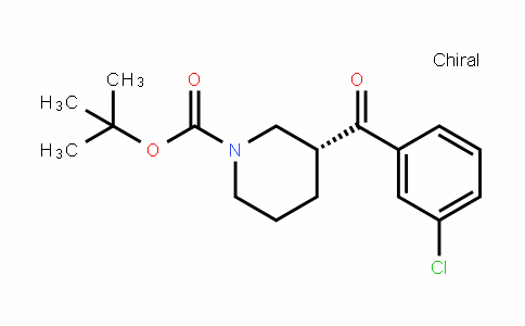 1-PiperiDinecarboxylic acid, 3-(3-chlorobenzoyl)-, 1,1-Dimethylethyl ester, (3R)-