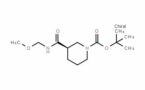 1-PiperiDinecarboxylic acid, 3-[(methoxymethylamino)carbonyl]-, 1,1-Dimethylethyl ester, (3R)-