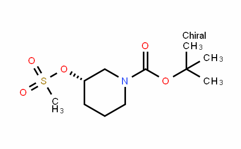 1-PiperiDinecarboxylic acid, 3-[(methylsulfonyl)oxy]-, 1,1-Dimethylethyl ester, (3S)-