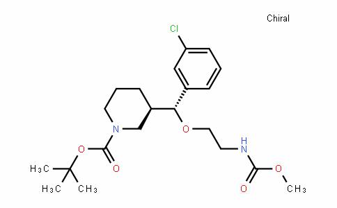 1-PiperiDinecarboxylic acid, 3-[(R)-(3-chlorophenyl)[2-[(methoxycarbonyl)amino]ethoxy]methyl]-, 1,1-Dimethylethyl ester, (3R)-