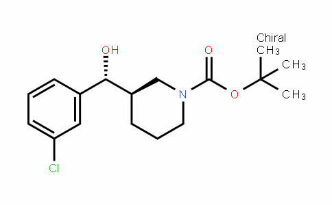 1-PiperiDinecarboxylic acid, 3-[(R)-(3-chlorophenyl)hyDroxymethyl]-, 1,1-Dimethylethyl ester, (3R)-