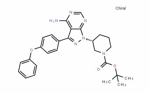 1-PiperiDinecarboxylic acid, 3-[4-amino-3-(4-phenoxyphenyl)-1H-pyrazolo[3,4-D]pyrimiDin-1-yl]-, 1,1-Dimethylethyl ester, (3R)-