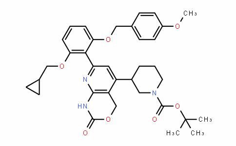 3-[7-[2-(环丙基甲氧基)-6-[(4-甲氧基苯基)甲氧基]苯基]-1,4-二氢-2-氧代-2H-吡啶并[2,3-d][1,3]恶嗪-5-基]-1-哌啶甲酸叔丁酯