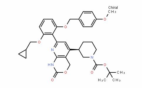 1-PiperiDinecarboxylic acid, 3-[7-[2-(cyclopropylmethoxy)-6-[(4-methoxyphenyl)methoxy]phenyl]-1,4-DihyDro-2-oxo-2H-pyriDo[2,3-D][1,3]oxazin-5-yl]-, 1,1-Dimethylethyl ester, (3R)-