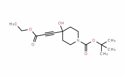 1-PiperiDinecarboxylic acid, 4-(3-ethoxy-3-oxo-1-propyn-1-yl)-4-hyDroxy-, 1,1-Dimethylethyl ester