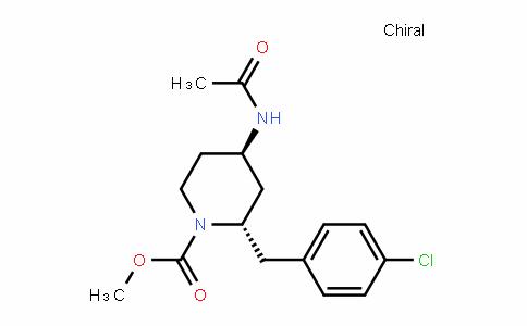 1-PiperiDinecarboxylic acid, 4-(acetylamino)-2-[(4-chlorophenyl)methyl]-, methyl ester, trans- (9CI)