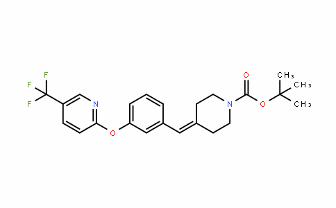1-PiperiDinecarboxylic acid, 4-[[3-[[5-(trifluoromethyl)-2-pyriDinyl]oxy]phenyl]methylene]-, 1,1-Dimethylethyl ester