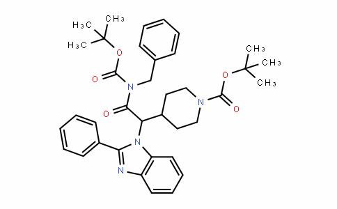 1-PiperiDinecarboxylic acid, 4-[2-[[(1,1-Dimethylethoxy)carbonyl](phenylmethyl)amino]-2-oxo-1-(2-phenyl-1H-benzimiDazol-1-yl)ethyl]-, 1,1-Dimethylethyl ester