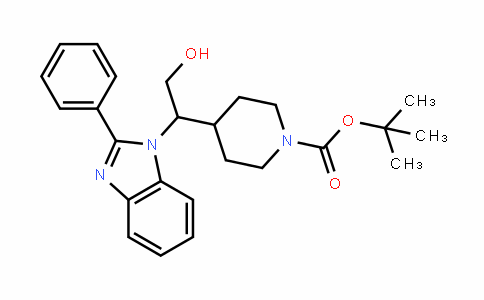 1-PiperiDinecarboxylic acid, 4-[2-hyDroxy-1-(2-phenyl-1H-benzimiDazol-1-yl)ethyl]-, 1,1-Dimethylethyl ester